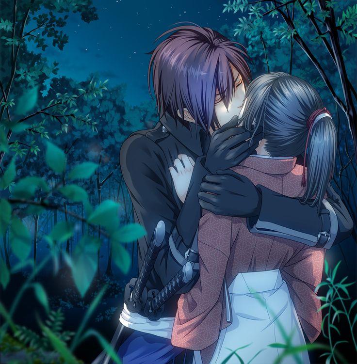 Hakuouki Shinsengumi Kitan, Yukimura Chizuru, Saitou Hajime (Hakuouki), Kiss On The Lips