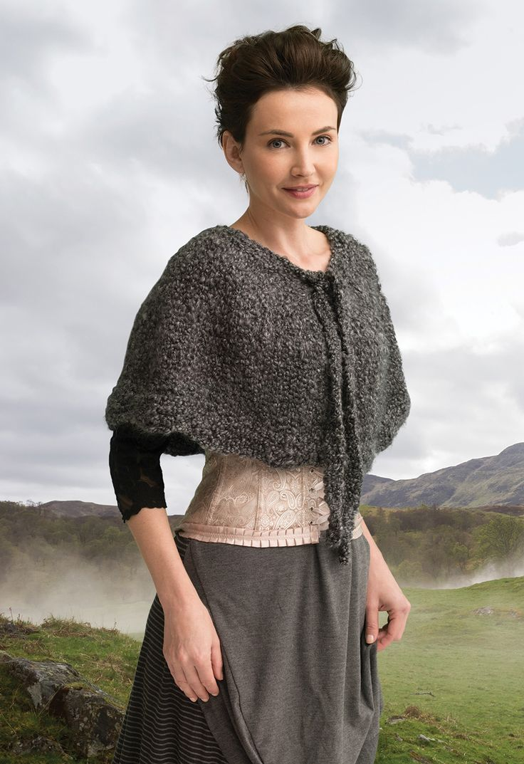 Outlander the Series Kit: The Gathering Spellbinding Capelet (Knit). Each kit includes all the yarn you need for the project, as well as a copy of the pattern.