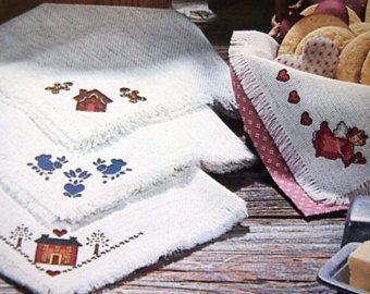 Bread cloth | Etsy  Etsy340 × 270Buscar por imágenes  Mimi's Country Bread Cloths By Mimi Hanna Vintage Cross Stitch Pattern Leaflet 1987