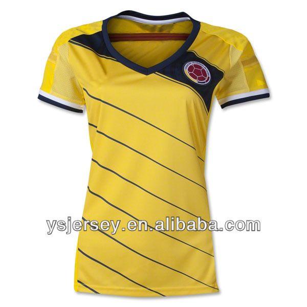 lady 2014 season Colombia women camiseta de futbol thailand quality football shirt colombia women soccer jersey $10.99~$22.99