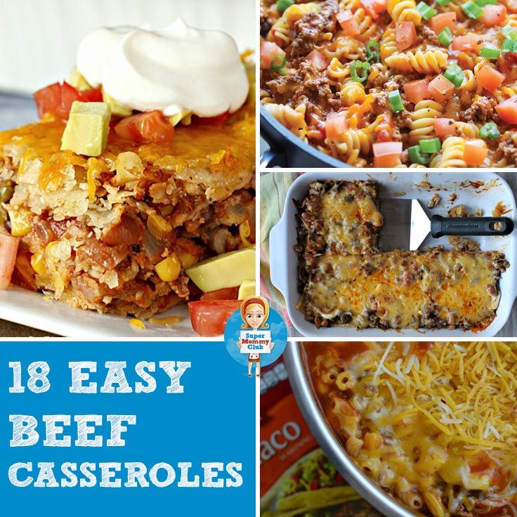 These easy ground beef casserole recipes are the perfect comfort food for a chilly evening!