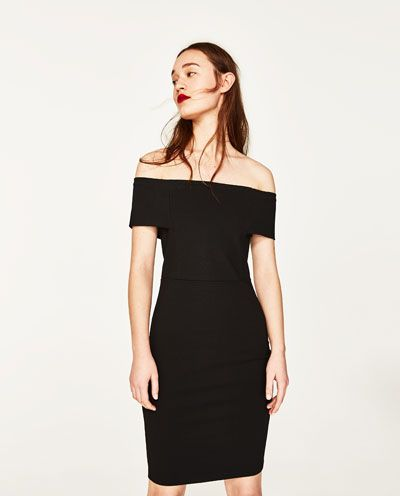 Image 2 of DRESS WITH BARDOT NECKLINE from Zara