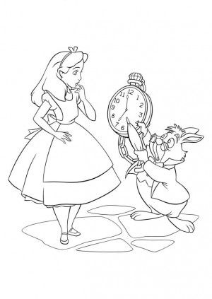 alice in wonderland 37 is a coloring page from alice in wonderland coloring booklet your children express their imagination when they color the alice in - Alice Wonderland Coloring Pages