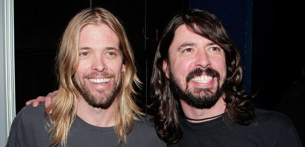 Dave Grohl and Taylor Hawkins at  after the 50th a