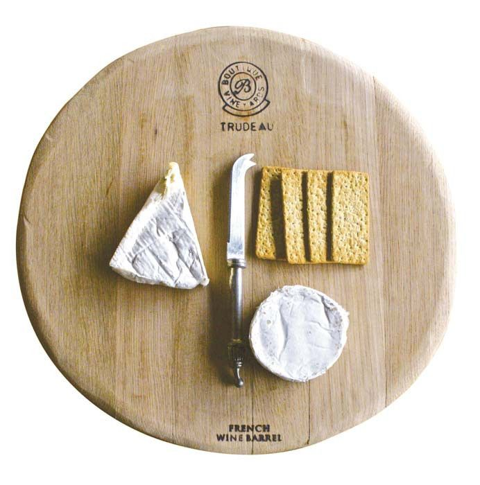 French Oak Cheese Board Hand crafted from aged French oak wine barrels. These cheese boards are uniquely hand crafted with authentic detail. A talking point when entertaining #oak #french #cheeseboard #entertaining #friends