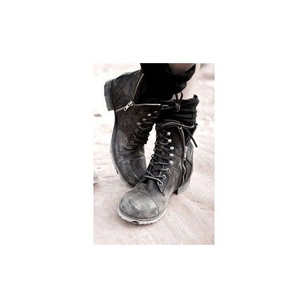 Rivets Punk Rock Style Black Boots ❤ liked on Polyvore featuring shoes, boots, punk rock shoes, black punk boots, punk boots, black punk shoes and black shoes