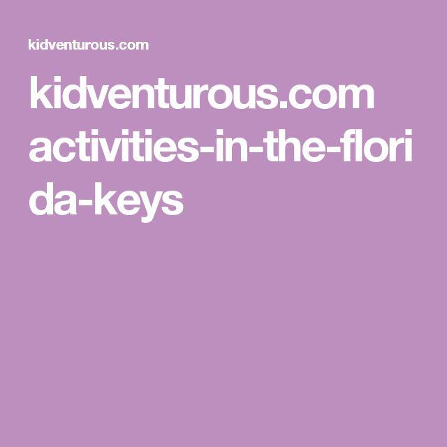 kidventurous.com activities-in-the-florida-keys