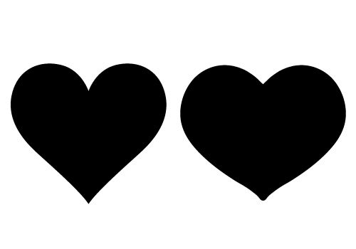 Include this heart silhouette vector in your designs on a wedding card design with wedding bells and couples or a valentines day greeting card template.  Your