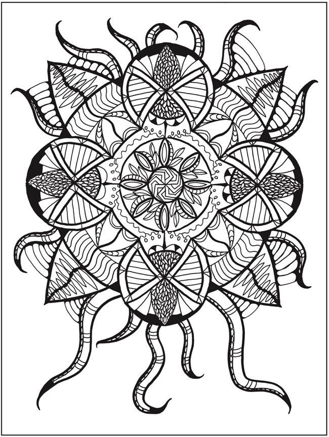zendala coloring book by lynne medsker dover publications page 3 - Dover Publishing Coloring Books