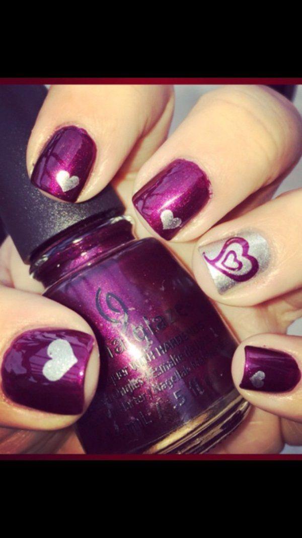 Heart+Nail+Art