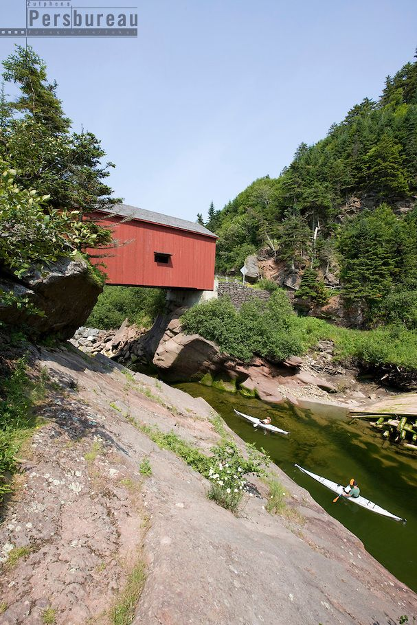 Canada. Fundy National Park. Covered bridge.