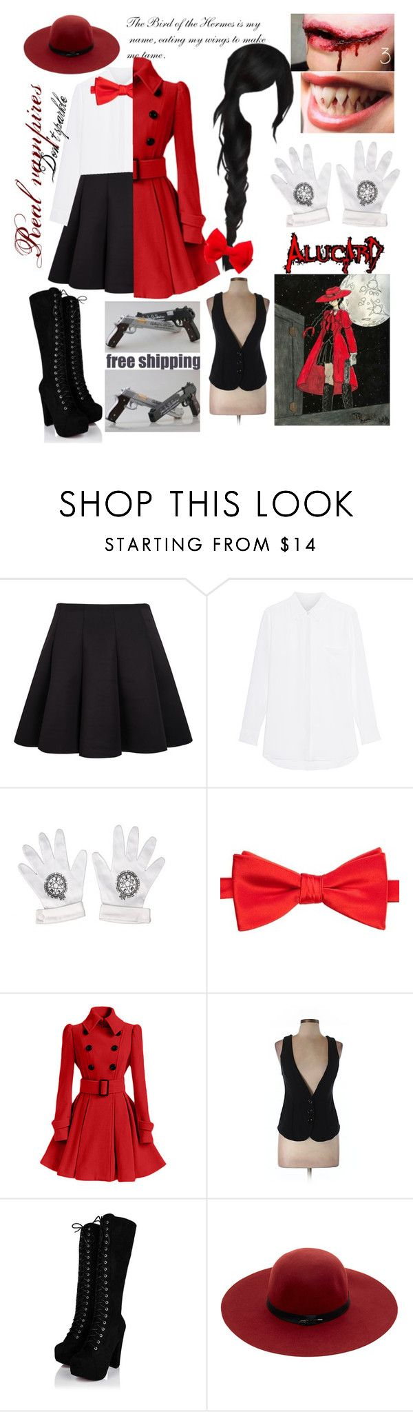 """""""Female Alucard Cosplay"""" by alarmico ❤ liked on Polyvore featuring Saddlebred, Ella Moss, Maison Scotch, claire's and Forum"""