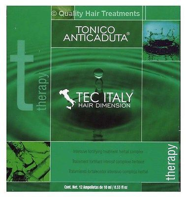 Tec Italy Hair Therapy Tonico Anticaduta 12 Ampolletas
