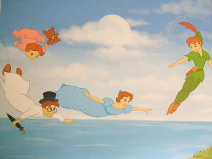 Ceiling wall mural for Disney room