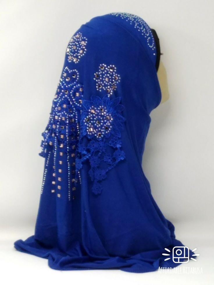 Amour Al Amira Hijab $24.99 Amour Al Amira Hijab with beautiful Lace Applique And Rhinestone Royal Blue 1pchttps://store13211292.ecwid.com/#!/Amour-Al-Amira-Hijab/p/101697815