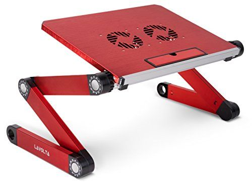 buy now   									£29.66 									  									The Lavolta Laptop Table helps reduce the operating temperature of your laptop and allows for steady airflow around it. It uses active cooling methods to distribute air  ...Read More