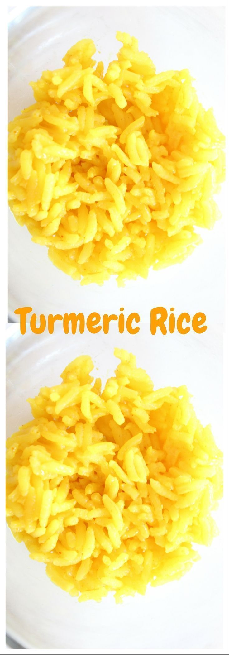 Spice up your rice with turmeric spice. Easy rice dish you can make anytime.  Click here for this recipe or pin to save for later.