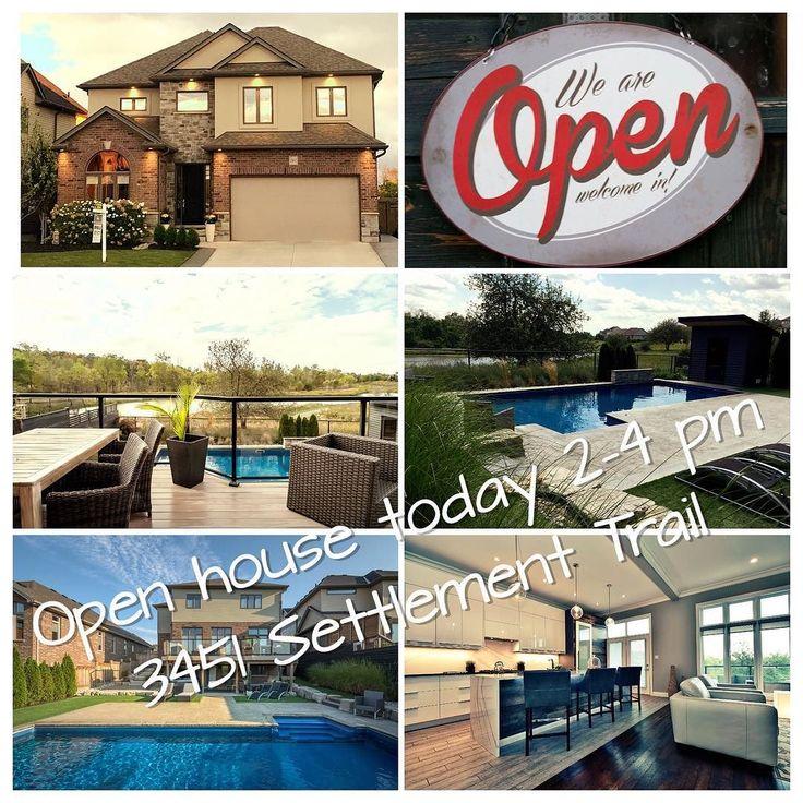 #openhouse #realestate #ldnont #homebuying #homeselling kimcan.ca #pond #pool #nature #hiking #modernhome #designer