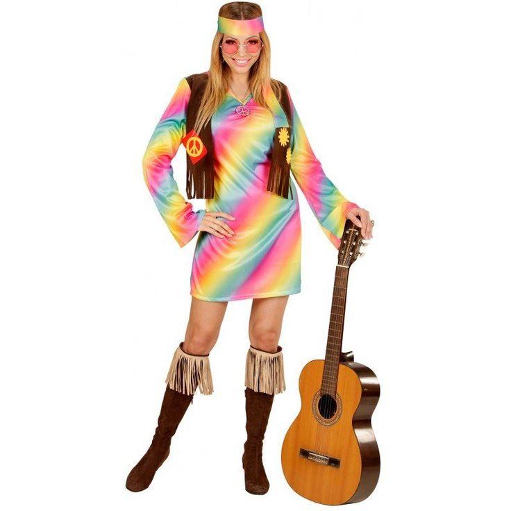 Rainbow Hippie Girl Kostüm