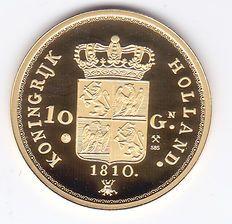 Koninkrijk Holland - 10 gulden 1810 Lodewijk Napoleon (Herslag) in goud