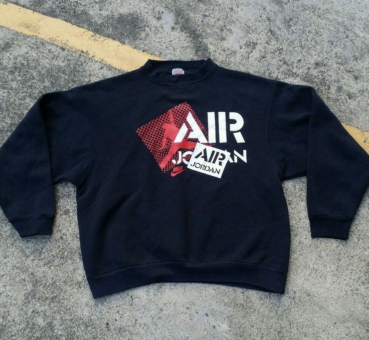 Vintage Nike Air Jordan Flight Big Logo Sport Sweatshirt Hip Hop NBA Basketball ZsvTPxqxCF