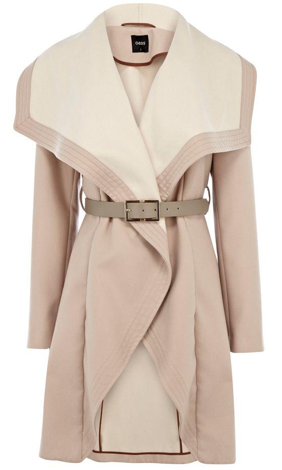 Oasis Blush Wrap Coat, £98
