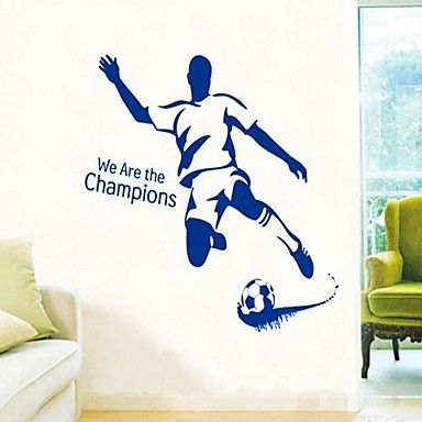 23 best images about muurstickers sport on pinterest vinyls football and plays - Verwijderbare decoratieve muur ...