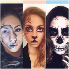 Femme au visage de tigre papier peint • papiers peints gros chat, maquillage,