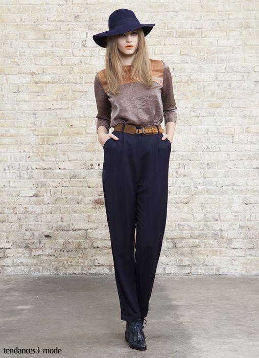 Populaire Les 25 meilleures idées de la catégorie Pantalon bleu marine femme  TG92