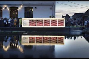Floating Cinema hits the East London waterways.