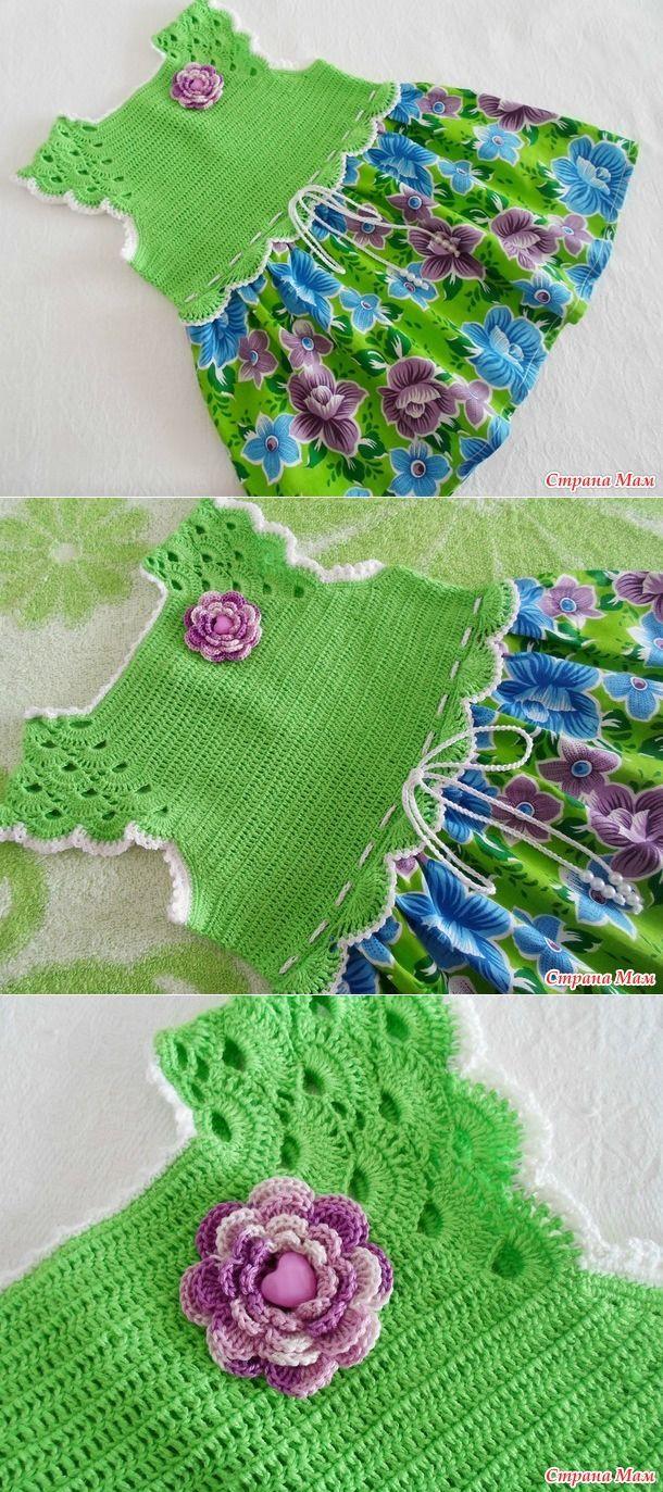 """Полинкина полянка-комбинированное платье(крючок+ткань), мой первый опыт, плюс панамка - Вязание - Страна Мам [   """"awesome Baby fork with crochet knit ."""" ] #<br/> # #Crochet #Clothes,<br/> # #Crochet #Dresses,<br/> # #Crochet #Ideas,<br/> # #Crochet #Patterns,<br/> # #Crochet #Baby,<br/> # #Forks,<br/> # #Awesome,<br/> # #Design,<br/> # #Ps<br/>"""