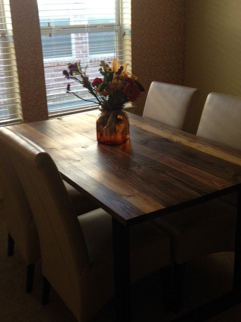 Custom Farm Style Dining Table by RusticandWoven on Etsy
