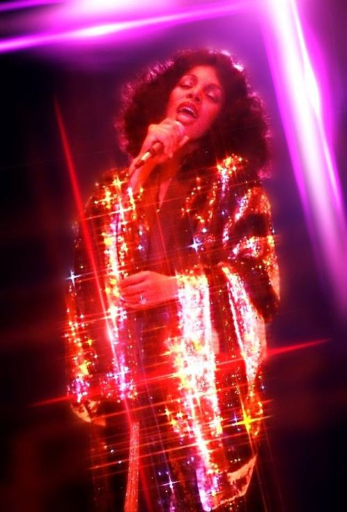 Donna Summer sequin flash lights