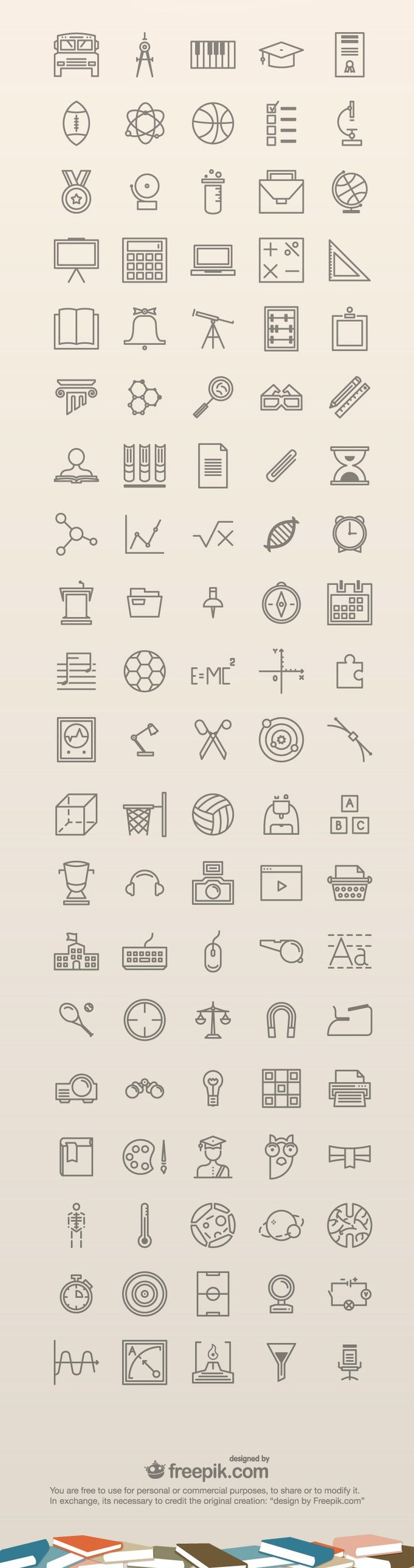 100 Free Education Icons