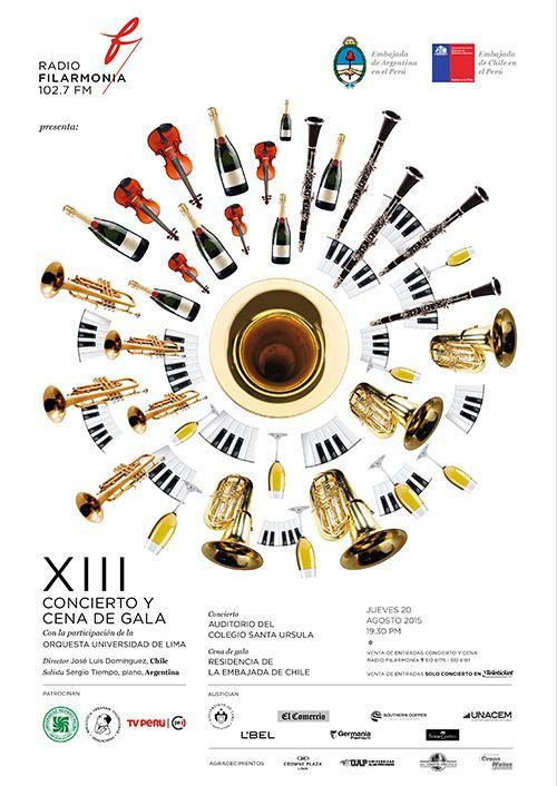 GRAN CONCIERTO y CENA DE GALA de Radio Filarmonía 2015