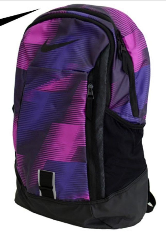79b767afd0 Nike Pro Adapt Graphic Backpack BA5251 539 Purple Black School Bag Book Bag  New