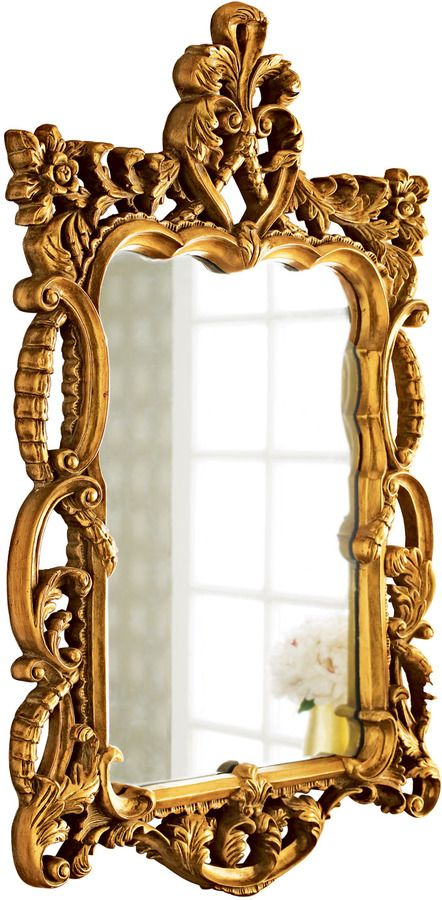 Gold antoinette mirror let 39 s decorate the home for Mirror 45 x 60