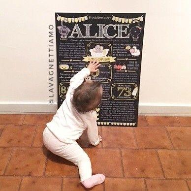 """""""Mi piace"""": 42, commenti: 10 - Lavagne Compleanno❤Andre&Sere💑 (@lavagnettiamo) su Instagram: """"Eccola la dolcissima Alice che copre il numero dei suoi dentini!!!! Chi indovina quanti ne ha??????…"""""""