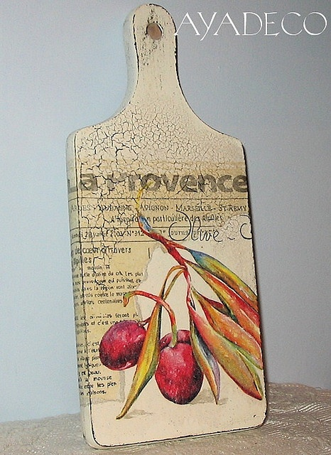Country style decoupage board
