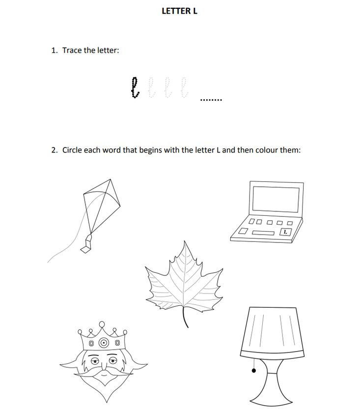 Easy and fun exercises to teach letter L for Reception