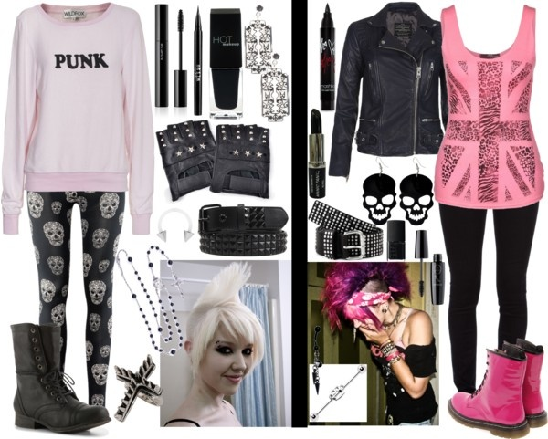 """Punk~ Outfit 1 or 2?"" by punk-127 liked on Polyvore ..."