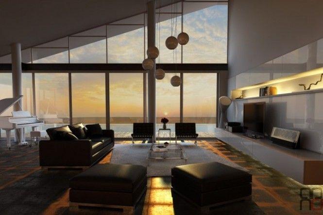 Black white living room furniture
