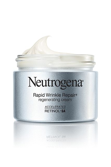 "Anyone who's privy to retinol knows the potency of the anti-ager. Only downside: It'll dry you out faster than you can say, ""My face is flaking."" This formula combines the ingredient with heavy-hitting hydrators, so you can sleep easy knowing you'll never have to worry about flaking skin.Neutrogena Rapid Wrinkle Repair Regenerating Cream, $24.99, available at drugstores in January 2017. #refinery29"