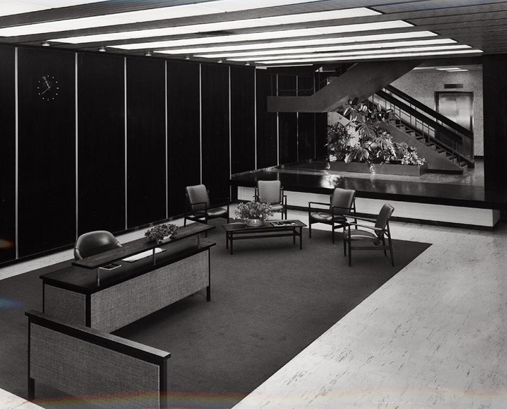 Photograph - Kodak Australasia Pty Ltd, Reception Area in Building 8, Head Office & Sales & Marketing at the Kodak Factory, Coburg-Melbourne, Australia 1964.  Photograph by Wolfgang Sievers.
