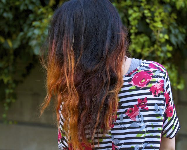 Dip Dyed Hair Tutorial this is cool but you have to bleach your hair first to get the effect
