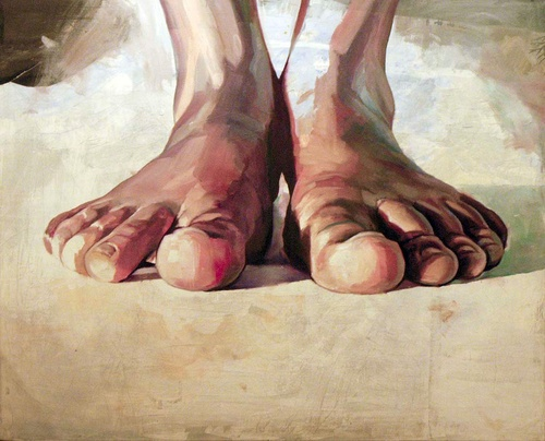 Feet~ grandmas silly feet and big toes but I always tell the kids they work and I thank God for them