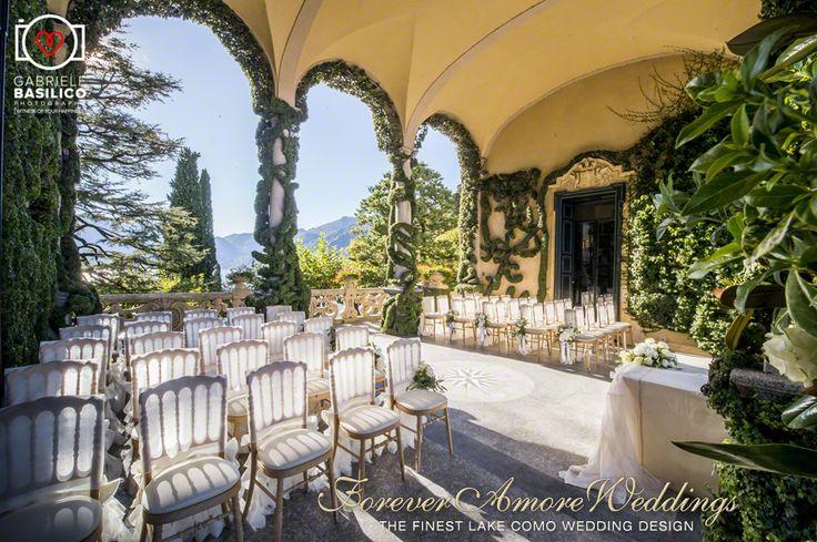 Villa Balbianello, Loggia Durini (Arched Loggia) wedding ceremony. Picture by Gabriele Basilico ©