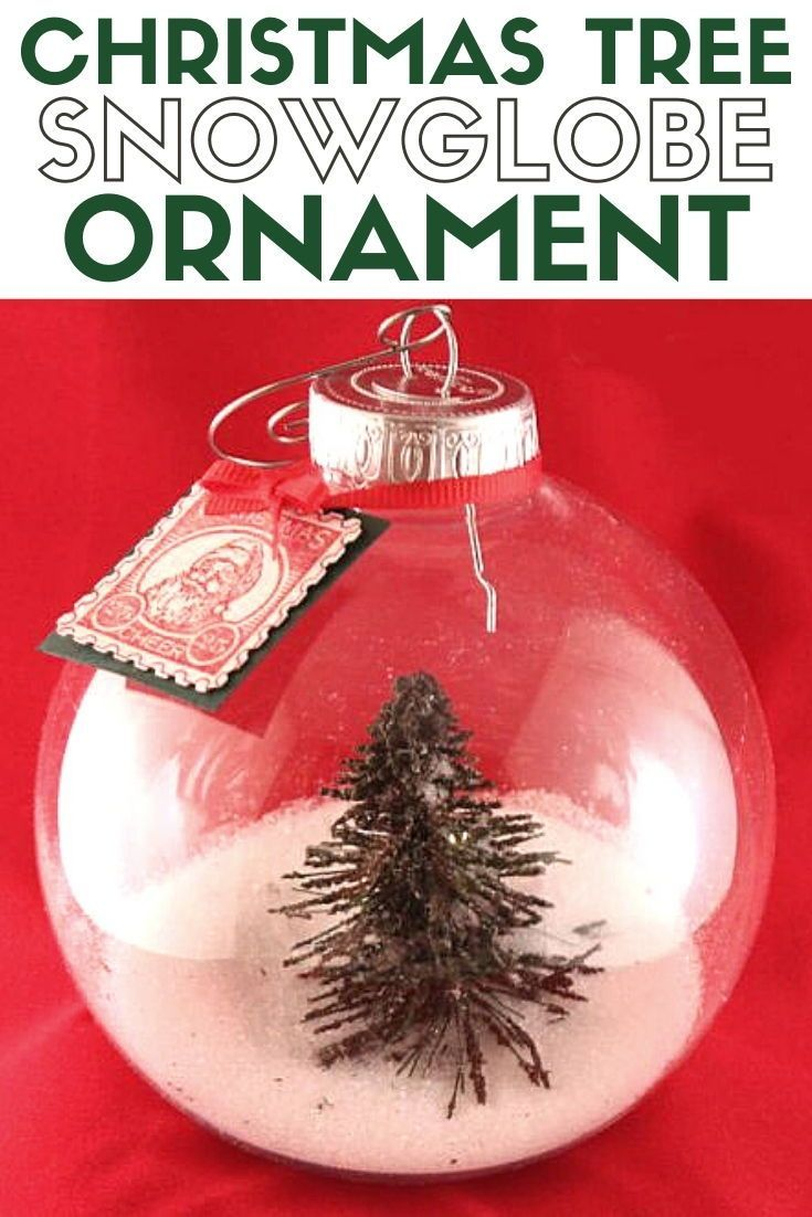 2020 Christmas Holiday Snowglobe Ornament Christmas Tree Snow Globe Ornament Tutorial with Video in 2020