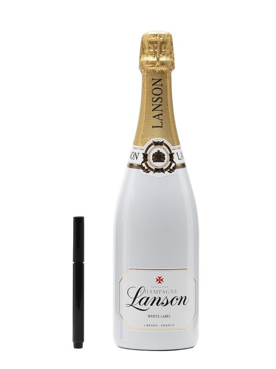 Lanson White Label NV Champagne - Personalise Set : The Whisky Exchange SEE@https://www.thewhiskyexchange.com/p/28657/lanson-white-label-nv-champagne-personalise-set