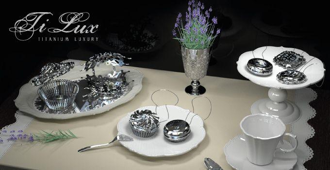 Linea TiLux – TITANIUM LUXURY { Cake Trait } - Gioielli in Titanio Puro - Made in Italy. Pezzi unici che reinterpretano le forme della pasticceria. http://www.titaniumluxury.it ...for your love, for your #wedding, for your emotions!